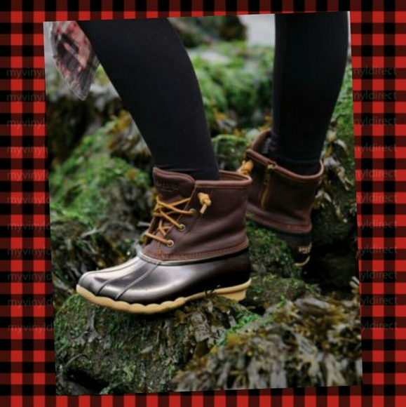 Sperry Leather Saltwater Duck Boots 85